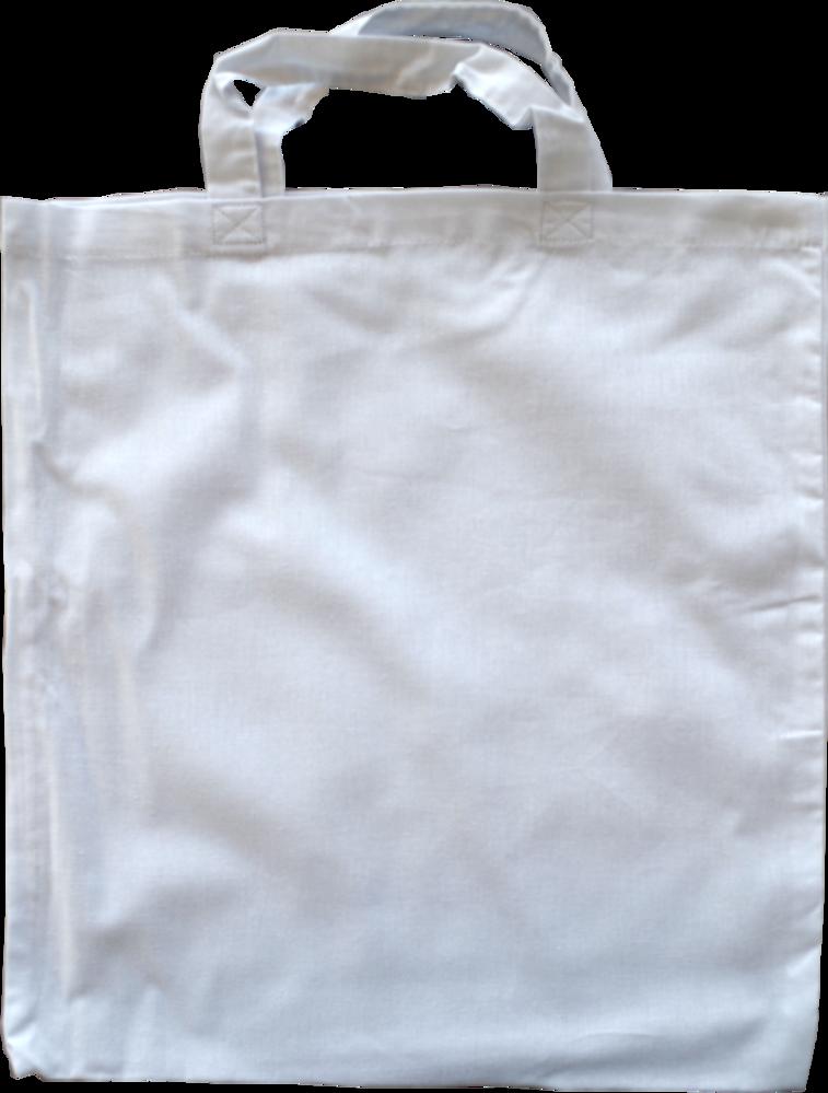 56f336f3ce06e Baumwolltaschen 39x41cm in weiß 125g m² mit kurzem Henkel
