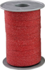 Ringelband Poly Glitter 100m x 10mm in rot